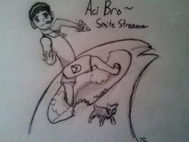 My Fav Streamer Drawing by Gobityn