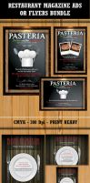 Restaurant Flyer Ads template Bundle by Hotpindesigns