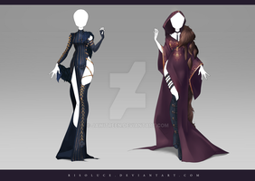 (CLOSED) Adoptable Outfit Auction 183 - 184 by JawitReen