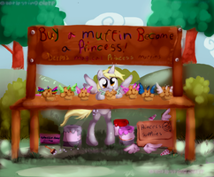 Buy a muffin, become a princess by EverlastingDerp