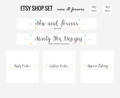 Etsy Banner and Shop Set by tiny-moon