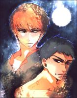 New Moon ::: Edward and Jacob by kissai