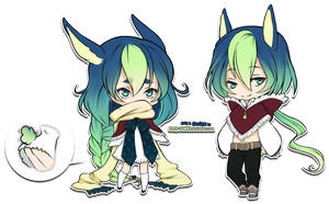Chibi twin adoptable set05 [CLOSED] by Meg-Sowka