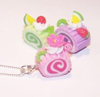 Swiss roll charms by PookieTookieJewelry