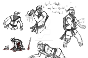 Ninja Scout sketches by Spinosaur123
