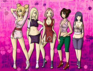 sexy naruto girls  3 by yashirosato Naruto Girls   300K request for *IM SteelAngel who wanted Sakura, Hinata, ...