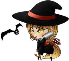 Chibi Witch Lady by EdlouieArts