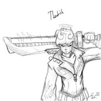 Thedrik Re-vamped Sketch by Aktherion