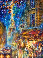 Paris - Recruitement Cafe by Leonid Afremov by Leonidafremov