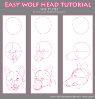 Easy Wolf Head Tutorial by AcidPaw