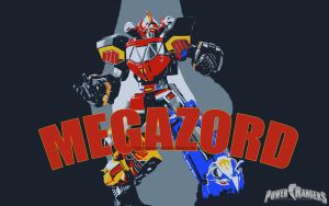 MMPR - MEGAZORD 1 by DesignsByTopher