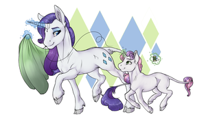FA: Rarity and Sweetie Belle by RomyvdHel-Art
