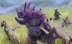Pokesafari: Nidoking by SebasVishno