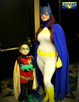 Batgirl and Robin (Damian Wayne) by ComicChic19