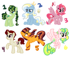 Adoptables Set One (CLOSED! THANK YOU!) by teekyo