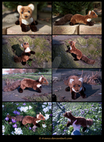 Plushie: Gwen the Pine Marten by Avanii