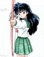 Kagome and her bow by NaRuTo-LoVeR76