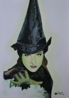 Drawing Wicked - Elphaba by Monique-Art