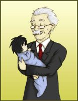 Watari And Baby L by Evergreen-Willow