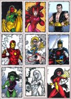 Avengers Sketch Cards by tonyperna