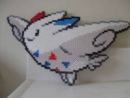 Pokemon: Perler Bead Togekiss by heatbish