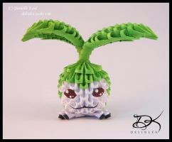 Tanemon  - 3D Origami - by Delinlea