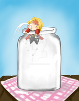 Chibi Ed and the Milk Bottle [3] by FlorideCuts