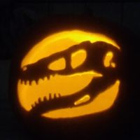 Raptor Skull Pumpkin by Chikara-Redwing