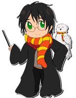 Harry Potter and Hedwig by ValiChan