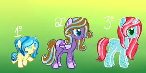 Pony adoptables batch #2 closed by Points-adoptables-4U