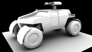 Sci Fi Scout car 3d by xRob-Machinesx