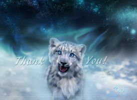 Snow Leopard - Thank you by KovoWolf