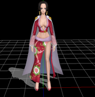 Boa Hancok - One Piece MMD (Low Poly) by narutoxbase