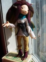 Mina - faun - art doll by mammalfeathers