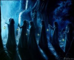 Leaving Rivendell by Gwillieth