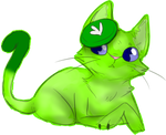 Green kitty cat by Dr-Synthesizer