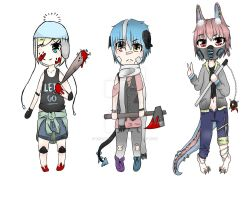 //Revealed// Adoptables : Killers/Sycos [CLOSED]] by TCS-Adoptables