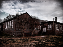 Ghostly School House by Toxic-Muffins-Studio
