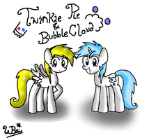 Twinkie Pie and Bubble Cloud by NeonCabaret