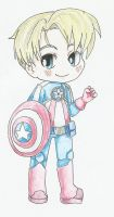 Chibi Avengers - Captain America by ChibiVooDooDoll