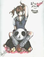 Ling Xiaoyu and Panda by Marto