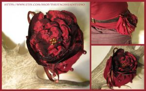 Aphrodite Rose Pouch with Belt Loop - Dice Bag by ImogenSmid
