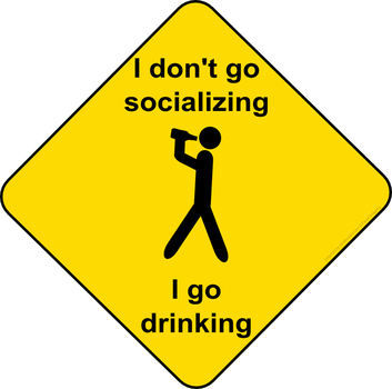 Drinking or socializing by Mutar