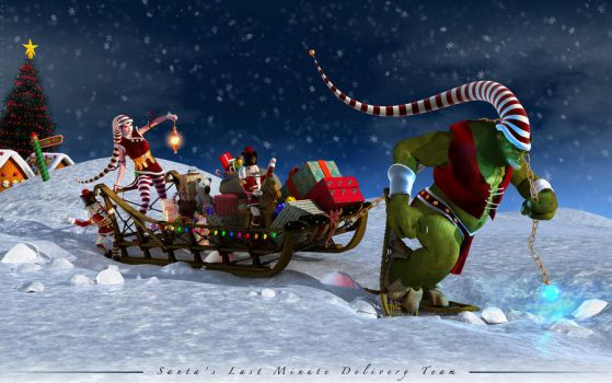 Santas Last Minute Delivery by Fredy3D