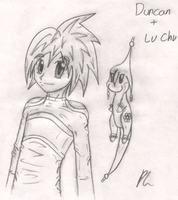 Duncan and Lu Chu by DizzieDoodles