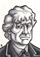 The Third Doctor Sketchcard by TheRigger