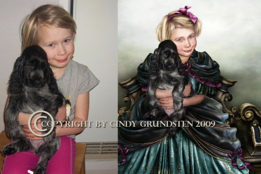 Little princess before  after by CindysArt