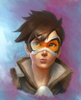 Tracer from Overwatch Fanart by artlon