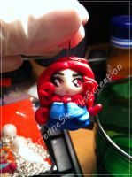mini doll pendant by DarkettinaMarienne