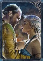 Dany and Jorah by DavidDeb